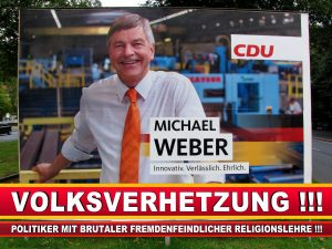 Michael Weber CDU Wahlplakat Wahlwerbung Bielefeld Volksverhetzung Durch Religion (1)