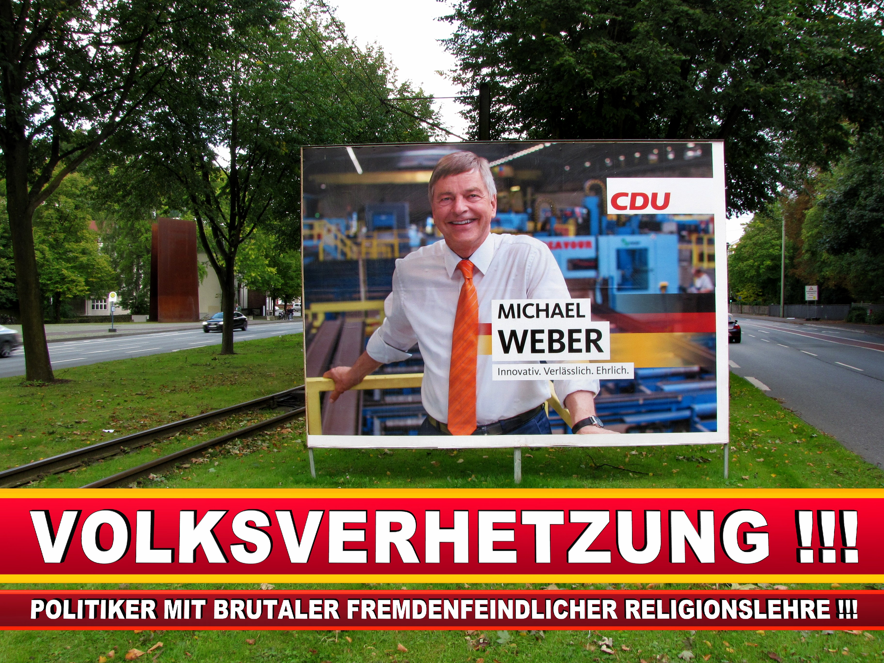 Michael Weber CDU Wahlplakat Wahlwerbung Bielefeld Volksverhetzung Durch Religion (6)