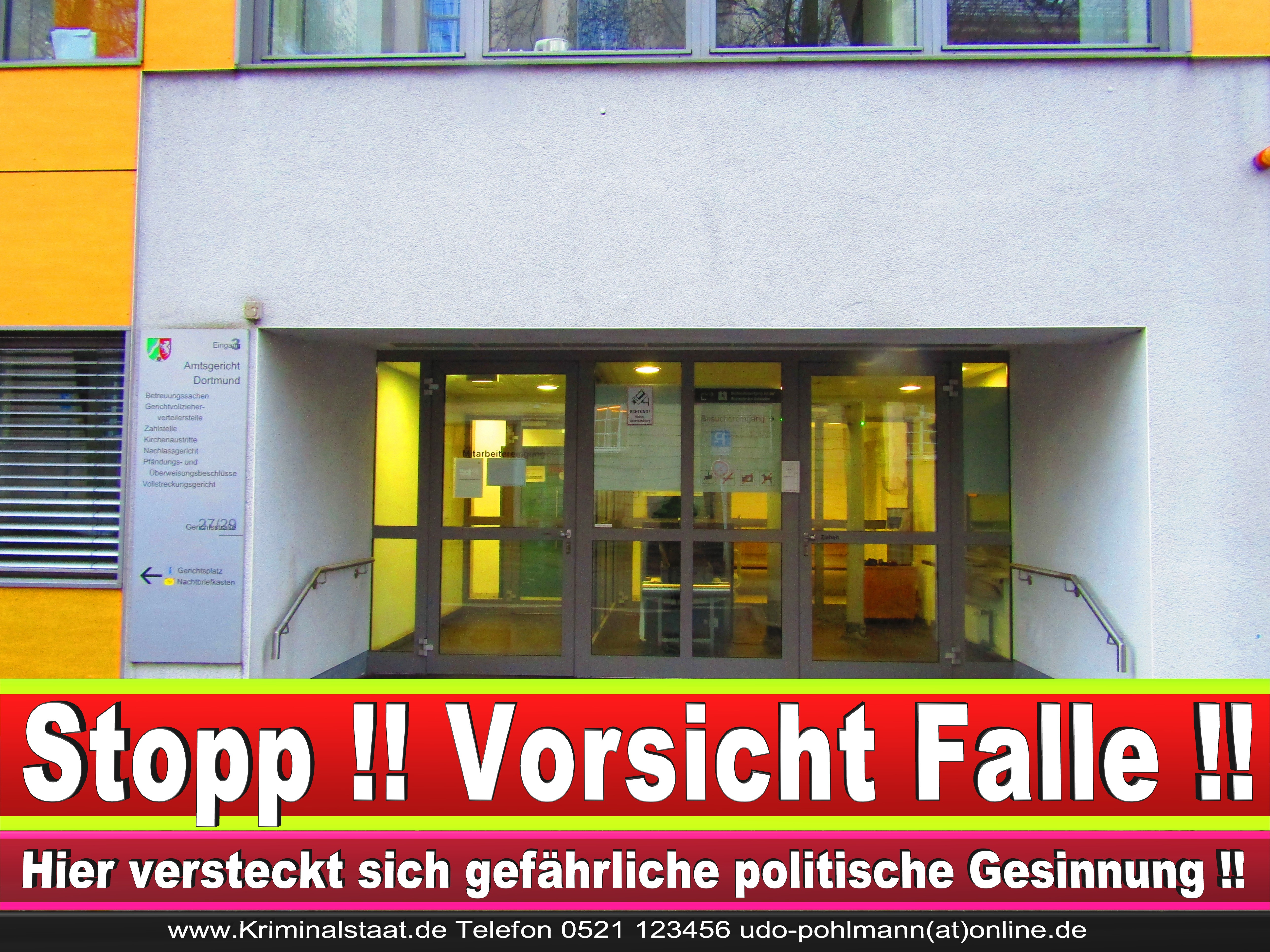 AMTSGERICHT DORTMUND RICHTER AUSBILDUNG PRAKTIKUM ANFAHRT URTEILE KORRUPTION POLIZEI ADRESSE DIREKTOR (11) 1 1