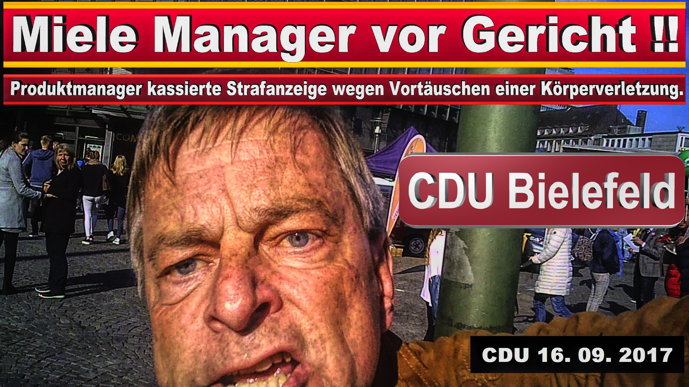 CDU BIELEFELD FACEBOOK MICHAEL WEBER MIELE GüTERSLOH PRODUKTMANAGER JURIST SPD FDP AFD BIELEFELD