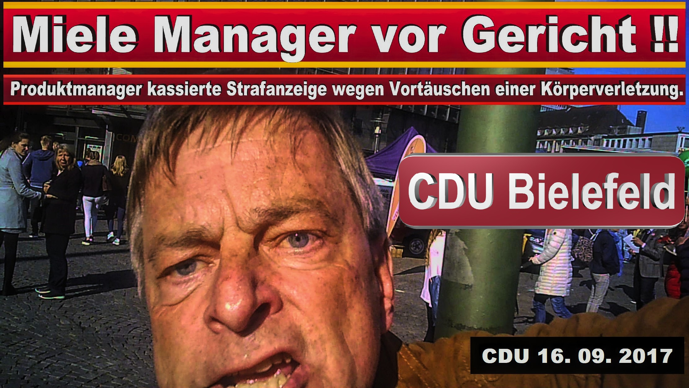 CDU BIELEFELD RATSFRAKTION MICHAEL WEBER MIELE GüTERSLOH PRODUKTMANAGER JURIST SPD FDP AFD BIELEFELD