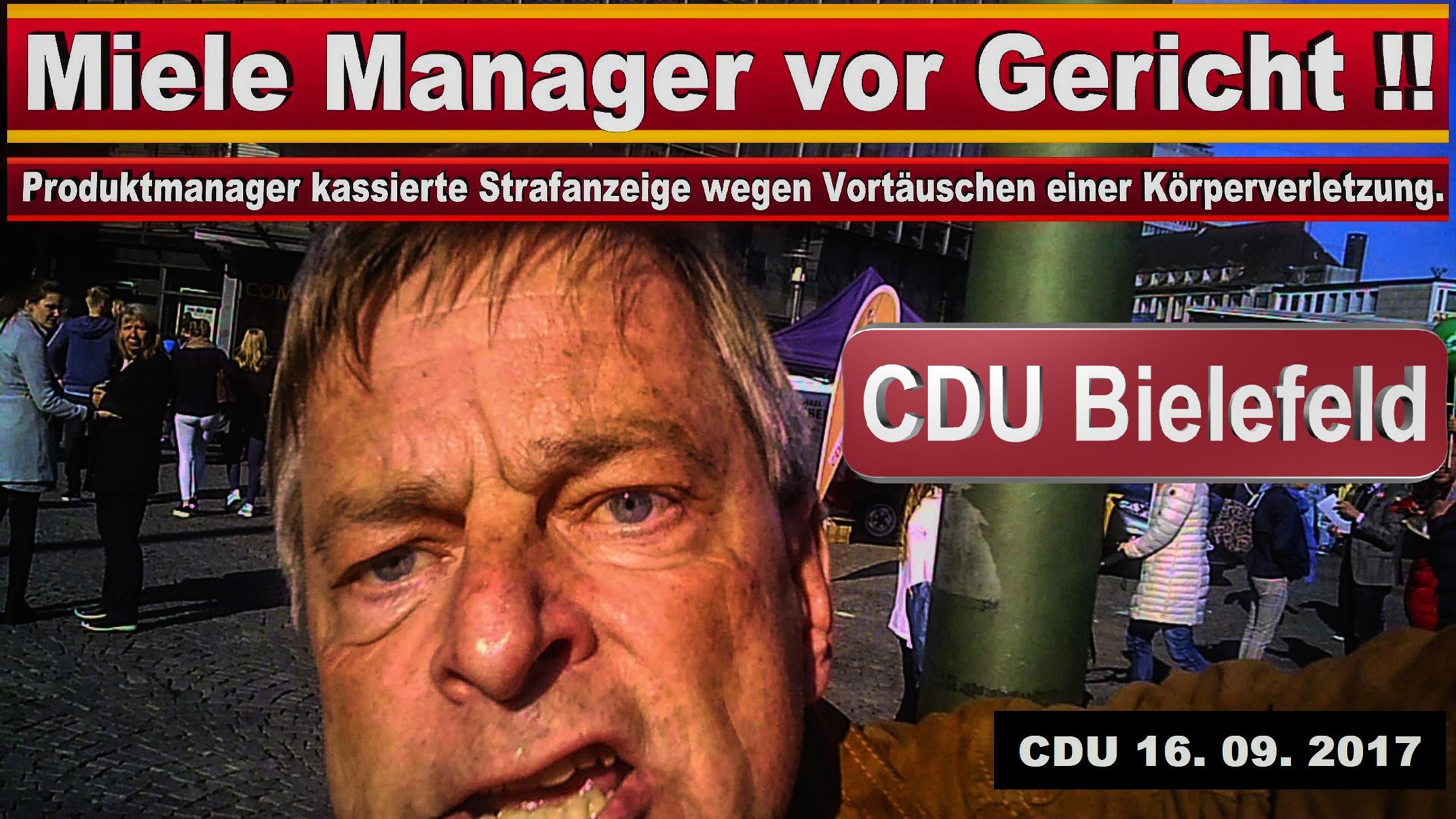 CDU BIELEFELD SCHILDESCHE MICHAEL WEBER MIELE GüTERSLOH PRODUKTMANAGER JURIST SPD FDP AFD BIELEFELD