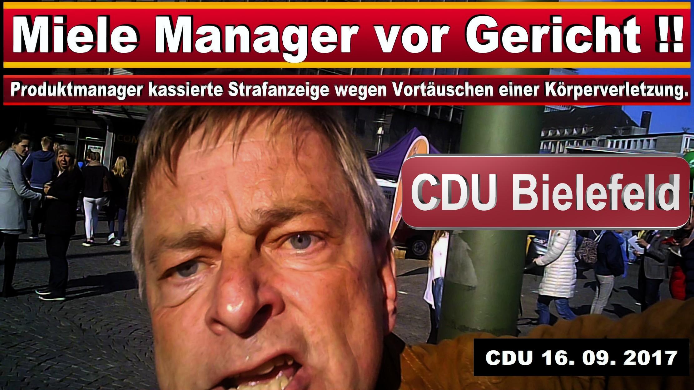 CDU GESCHäFTSSTELLE BIELEFELD MICHAEL WEBER MIELE GüTERSLOH PRODUKTMANAGER JURIST SPD FDP AFD BIELEFELD