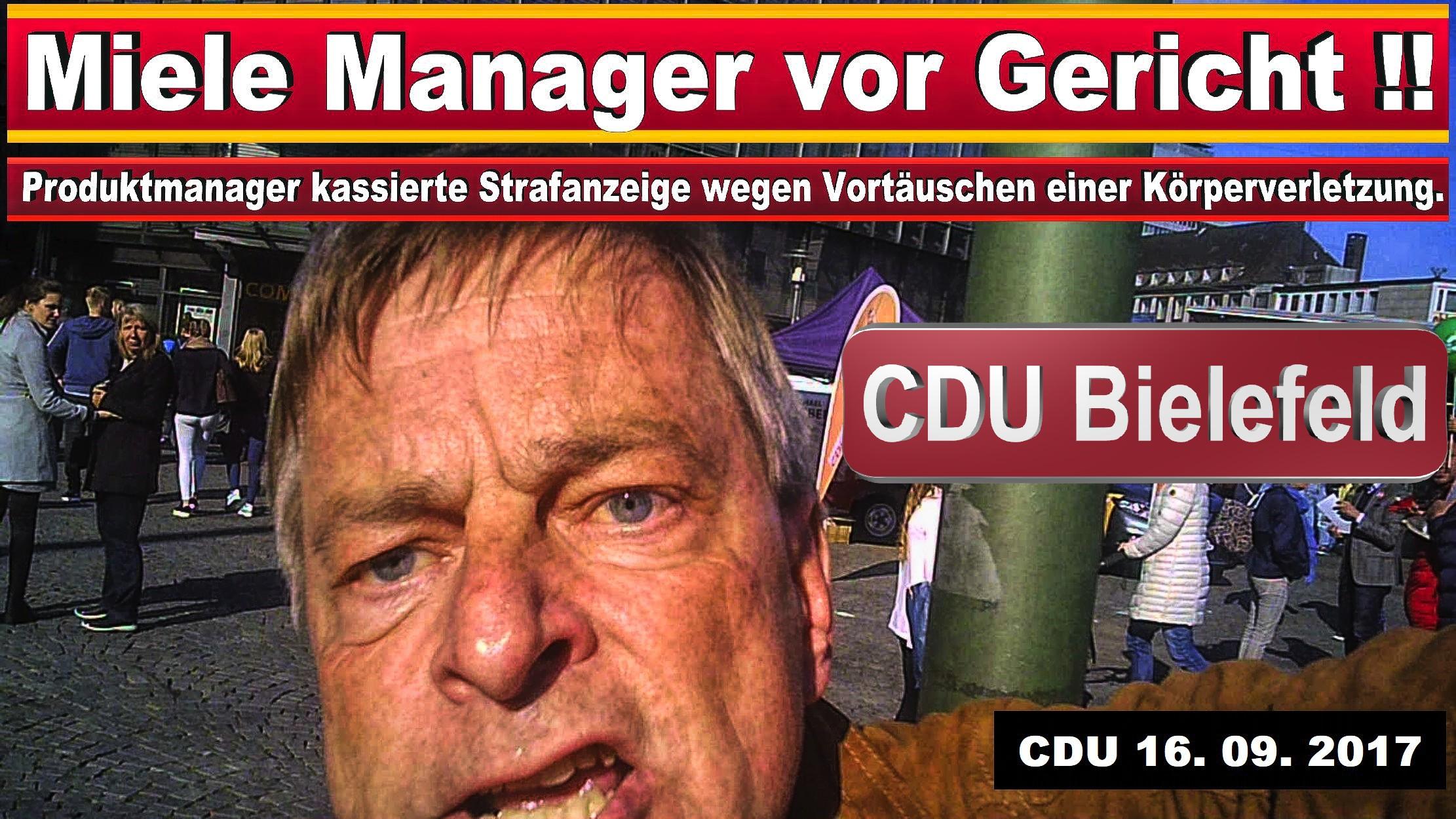 CDU IN BIELEFELD MICHAEL WEBER MIELE GüTERSLOH PRODUKTMANAGER JURIST SPD FDP AFD BIELEFELD